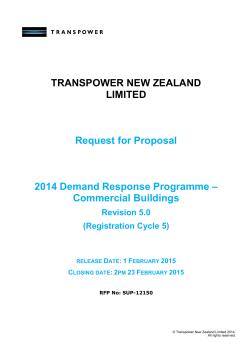 Commercial building demand response programme
