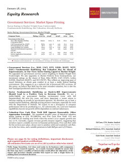 Government Services: Market Space Firming