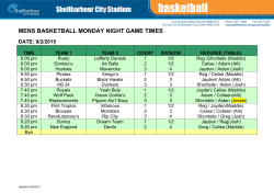 Basketball Game Times - Shellharbour City Council