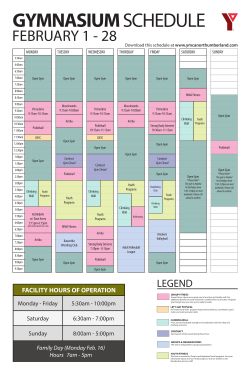 Gym Schedule PDF Download