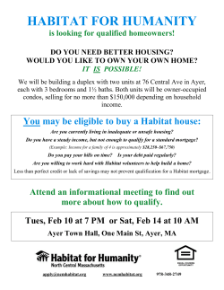 DO YOU NEED BETTER HOUSING? - Habitat for Humanity