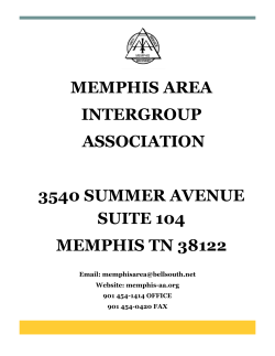 AA Related Flyers - Memphis Area Intergroup Association