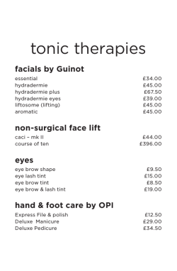 tonic therapies