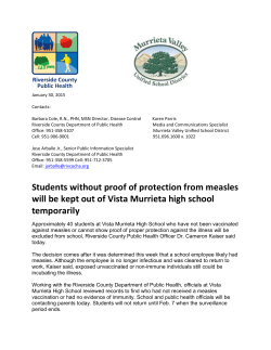 Student excluded from Vista Murrieta High School after suspected