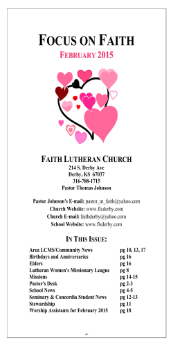 Newsletter - Faith Lutheran Church