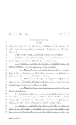 84(R) SB 11 - Introduced version