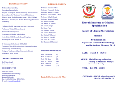 Kuwait Institute for Medical Specialization Faculty of Clinical