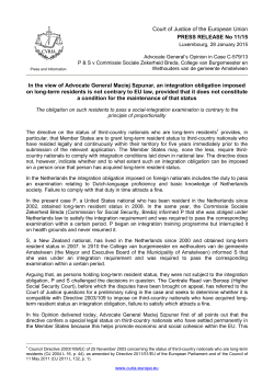 Court of Justice of the European Union PRESS RELEASE No 11/15