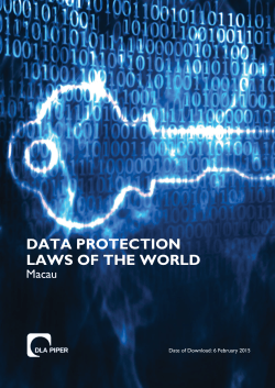 macau - Data Protection Laws of the World