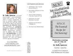 NEW! De-Cluttering Teleclasses with Dr. Duffy