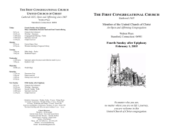 02-01-15 - The First Congregational Church of Stamford
