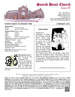 Weekly Bulletin - Sacred Heart Church