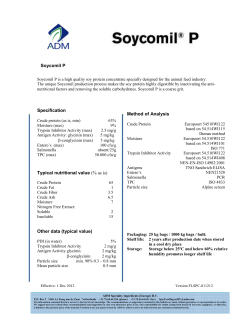 Soycomil P Specification Other data (typical value) Method of