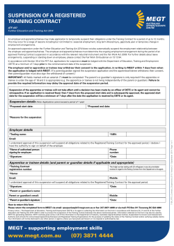 Form 7106 – Application to Suspend a Training Contract