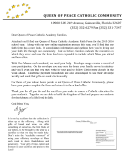 QUEEN OF PEACE CATHOLIC COMMUNITY
