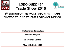 Expo Supplier Trade Show 2015