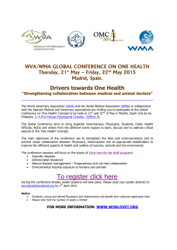 To register click here - One Health Initiative