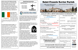 Parish Bulletin - Saint Francis Xavier Church