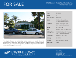 FOR SALE - Brian Bailey | Central Coast Investments