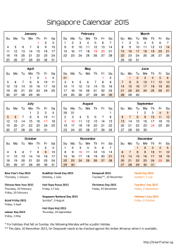 Download 2015 Singapore Calendar with Holidays