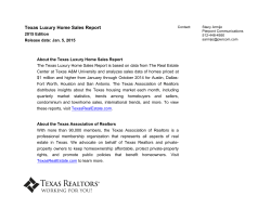 2015 Luxury Home Sales Report_Final - Texas Association of