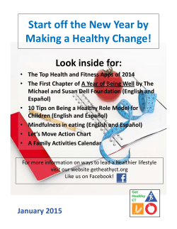 Start off the New Year by Making a Healthy Change! - Get Healthy CT
