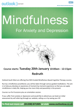 Mindfulness Poster Redruth Jan 2015