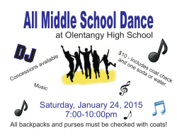 Middle School Dance 2015 Poster