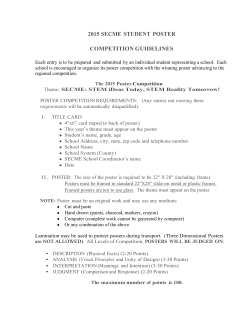 2015 secme student poster competition guidelines