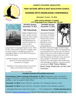 FNMIE Conference 2015 poster - First Nations, Métis and Inuit