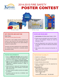 2014-2015 Fire Safety poster contest