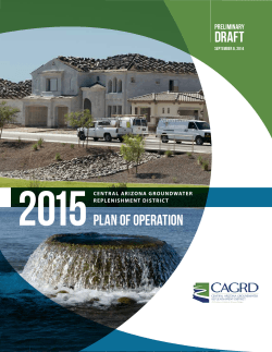 Preliminary Draft 2015 Plan of Operation
