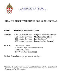 health benefit meetings for 2015 plan year