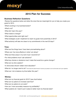 2015 Plan for Success