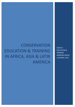 conservation education  training in africa, asia  latin america