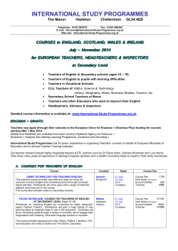 COURSES in ENGLAND, SCOTLAND, WALES  IRELAND - Albion