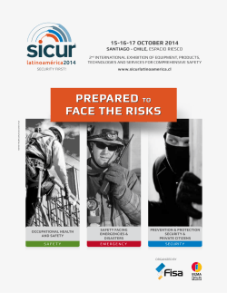 prepared to face the risks prepared to face the risks - SICUR