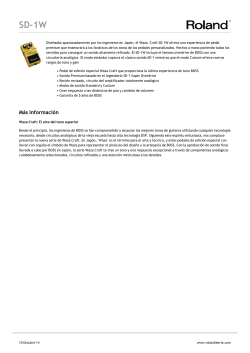 manual de instrucciones boss sd1w - Madrid Hifi