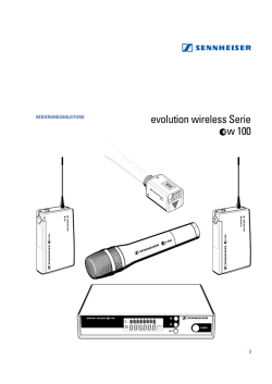 evolution wireless Serie w 100 - Sennheiser