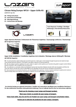 Citroen Relay/Jumper MY14 – Upper Grille Kit - Lazer Lamps