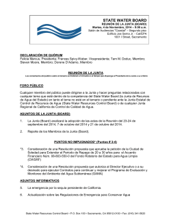 BOARD MEETING - State Water Resources Control Board