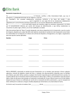 Resolucion Corporativa.pdf - Elite International Bank
