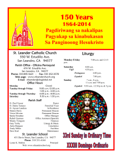 St. Leander Catholic Church - E-churchbulletins.com