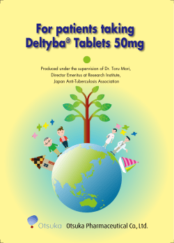 For patients taking Deltyba® Tablets 50mg