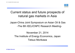 Current status and future prospects of natural gas markets in Asia