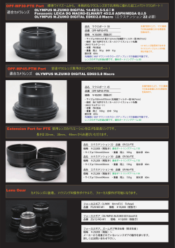 OPF-MP45-PTM Port 適合カメラレンズ Lens Gear