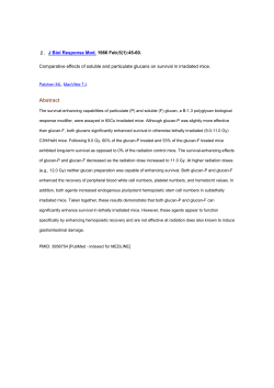 Comparative effects of soluble and particulate glucans on survival in