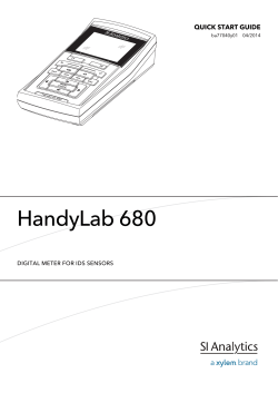 HandyLab 680 - SI Analytics