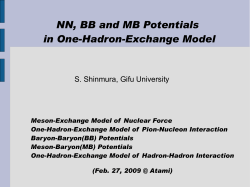 NN, BB and MB Potentials in One-Hadron-Exchange Model