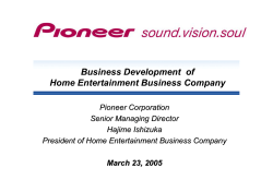 Business Development of Home Entertainment Business Company